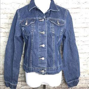 Lands End Denim Blue Jean Jacket